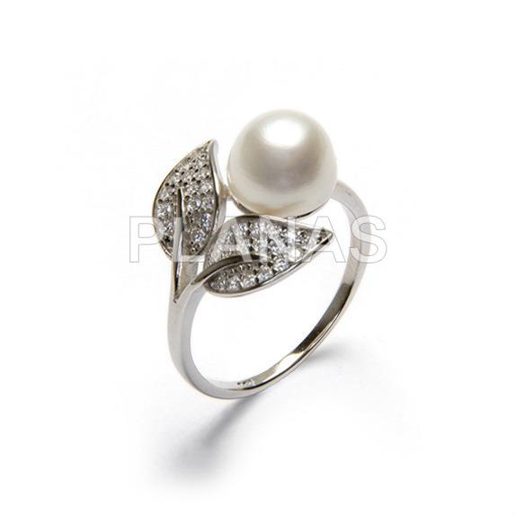 231 1 anillos en plata de ley y perlas