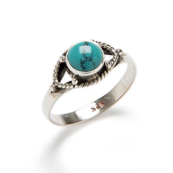 61 1 anillos turquesa y plata de ley