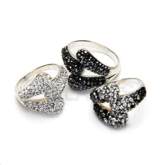 76 1 anillos plata de ley y cristal swarovski
