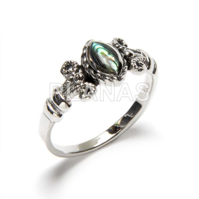 255 1 anillos de plata y abalon