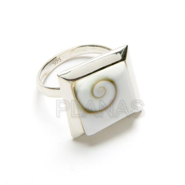 48 1 anillos chiva y plata