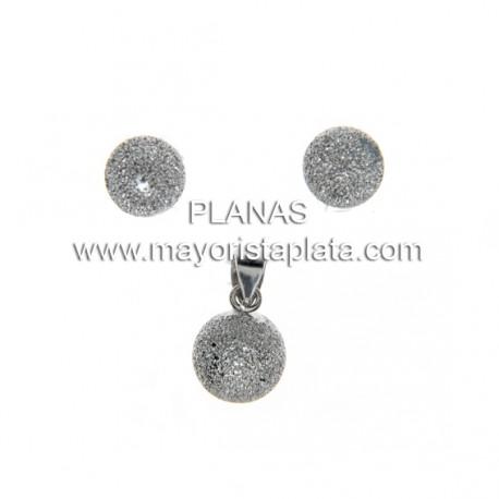 Conjunto en Plata Diamantada