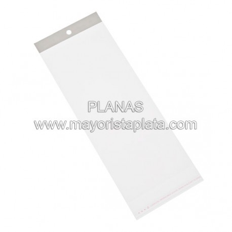 OPP Bolsas de Plastico 11x30mm.