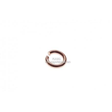 Anillas Abiertas de Plata y Baño de Oro 4x2,5x0,8mm