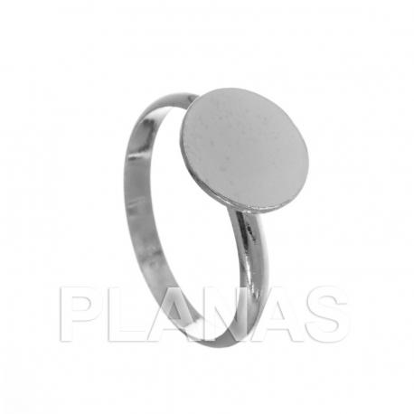 Fornitura de plata para anillo de media caña
