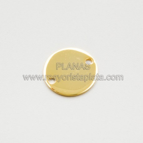 Placas en Plata de Ley 14mm.