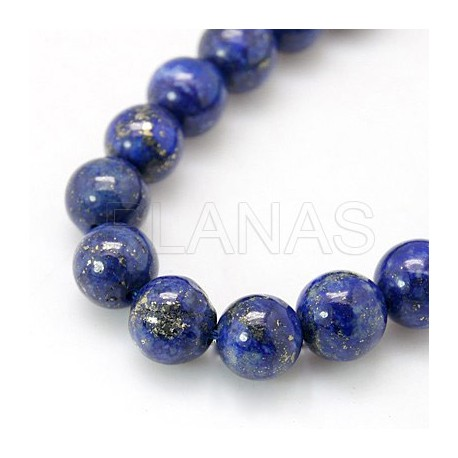 Tiras de Lapizlazuli Natural 4mm