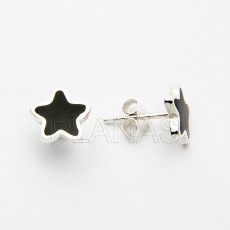 Conjunto Estrella en Plata de Ley y Onix.