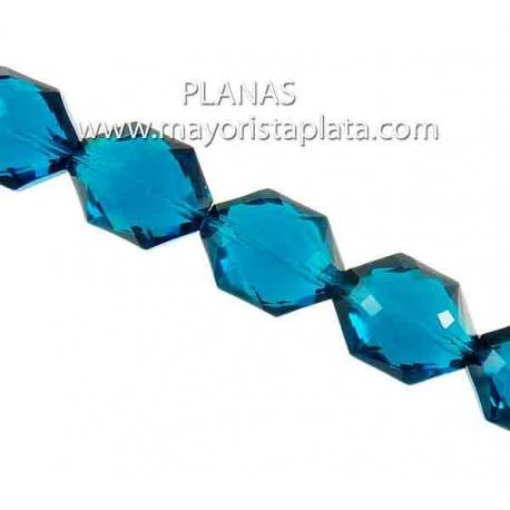 Pieza de Cristal Hegagonal 17x15x9mm