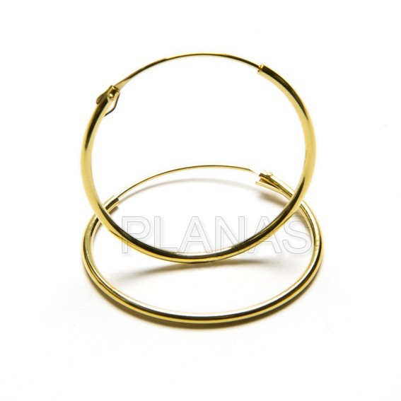 Aros silver and gold 1.2mm bath.