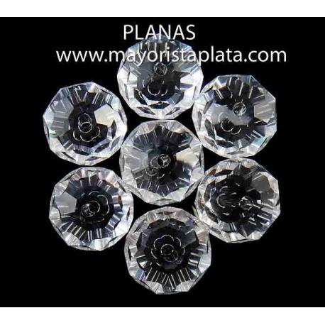 Bolas de cristal facetadas 12x8mm.