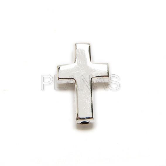 Silver cross for bracelet