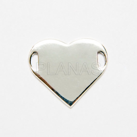 Plate Heart Sterling Silver.