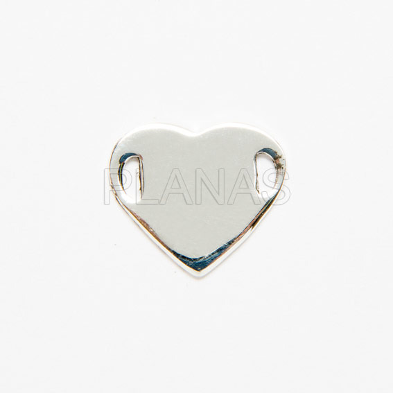 Heart sterling silver plate.