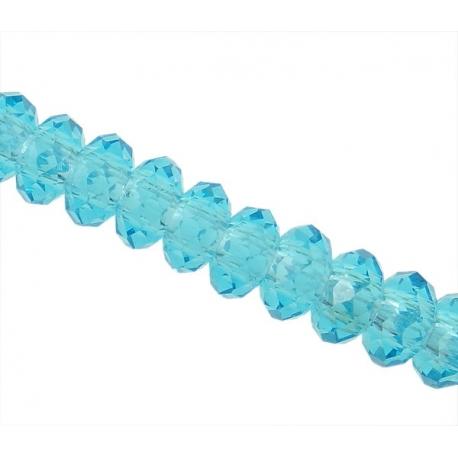 Rondelle  facetadas de cristal 14x9mm.