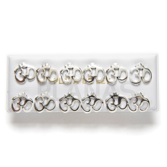 Silver earrings 6 pairs pack