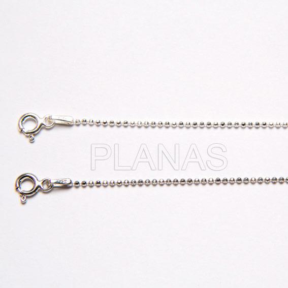 Pellets chain sterling silver diamond-1.2mm.