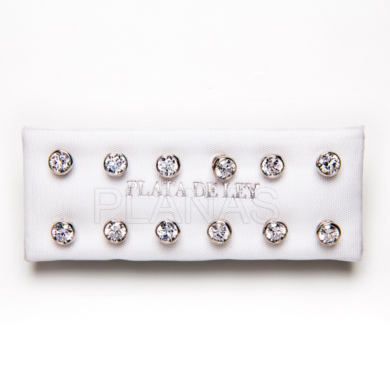 Mount earrings in sterling silver russian.