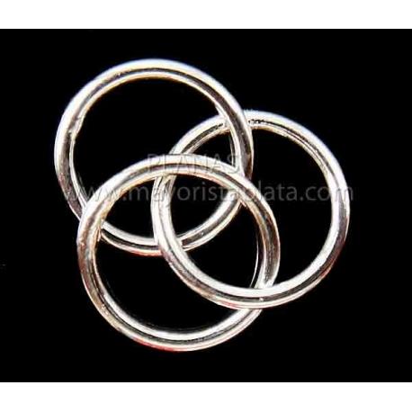 Fornitura de plata 925 3 anillas