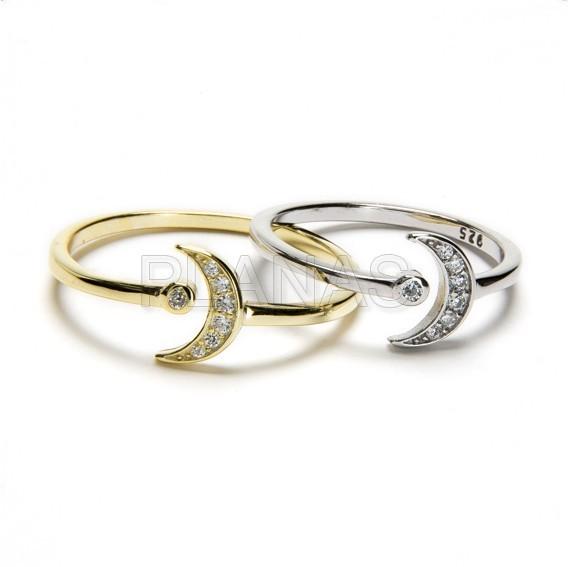 29557qfrfj anillo en plata de ley rodiada con circonitas luna