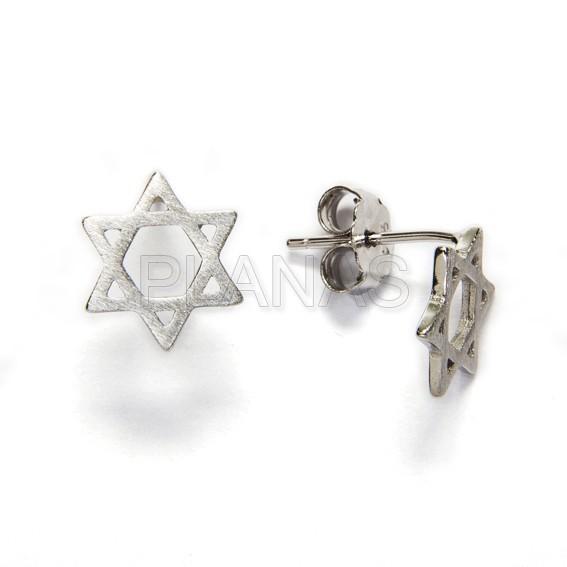 30776yrgcr pendiente en plata de ley rodiada estrella de david
