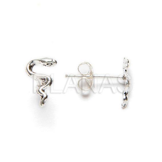 Moon pendant in sterling silver.