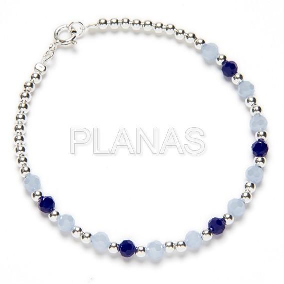 978122204749 32626nhpk6 pulsera en plata de ley y bolitas azules