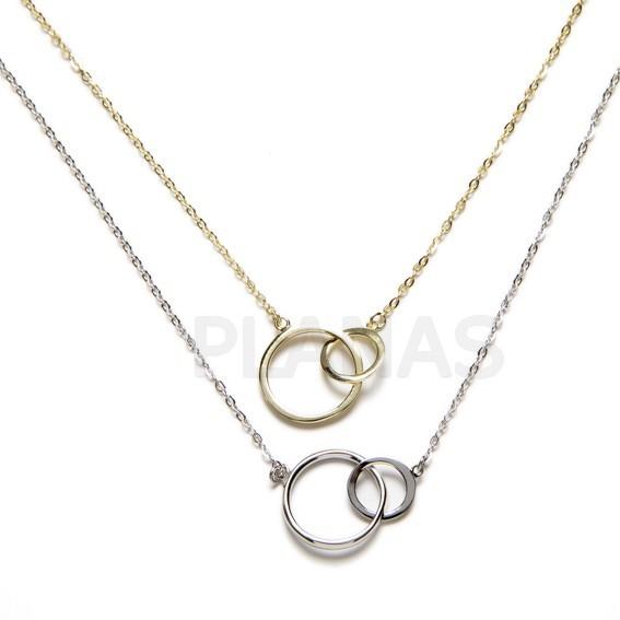 9c585aa415d1 Collar en Plata de Ley Rodiada