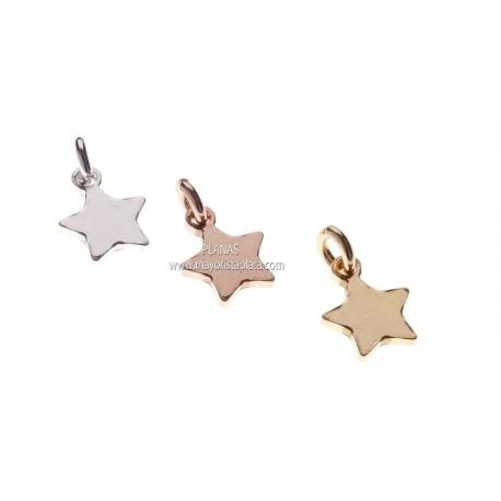 Colgantes de Estrellas 7,5x9,3mm.