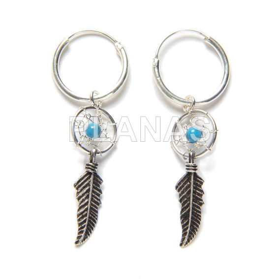 Dreamcatcher earring sterling silver