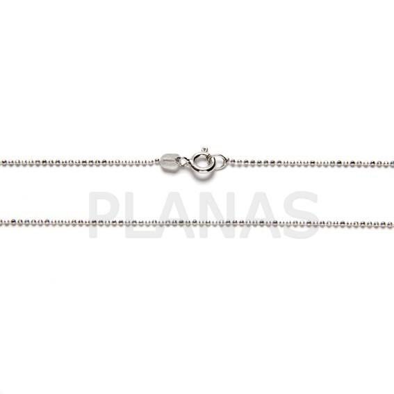 527d83f23a1f Cadenas Bolitas Diamantadas en Plata de Ley y Baño de Rodio