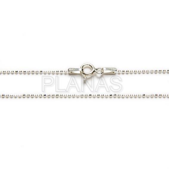 4476o3n3j cadenas bolitas diamantadas en plata de ley