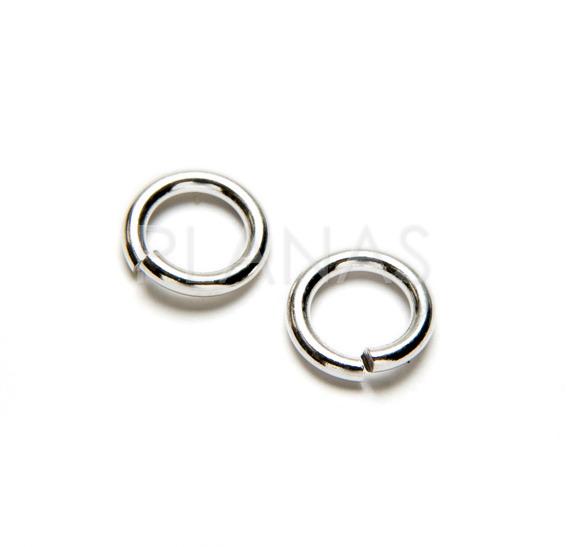 Silver rings open 6x4x1mm