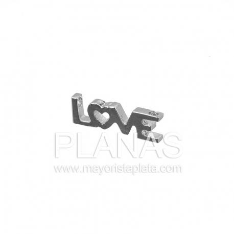 Placa de plata con nombre love