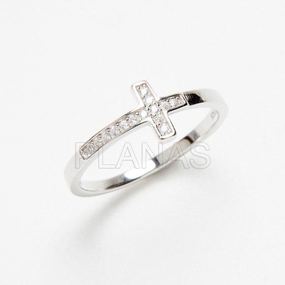 4959vrbo3 anillo plata y circonitas