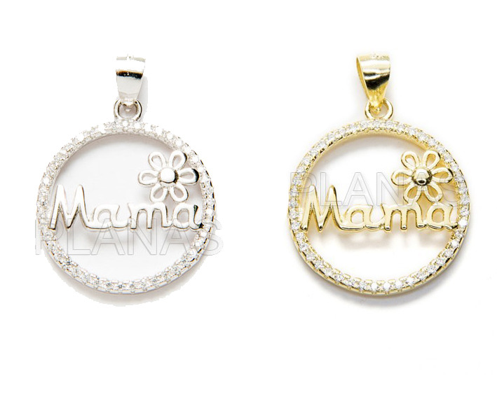Mama charm sterling silver