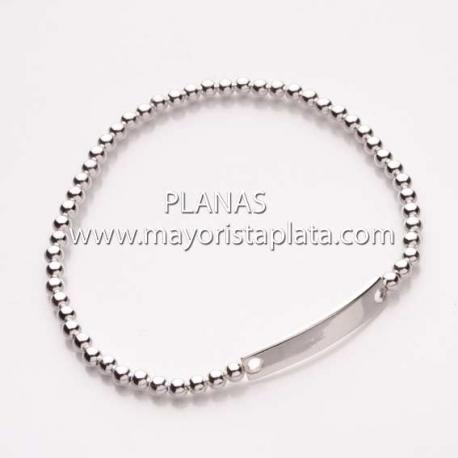 Pulsera Plata Elastica