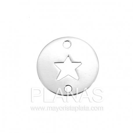 Circulo de plata con estrella  16,5mm.