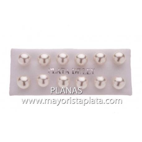 Pendientes Plata pack 6 pares Perla Sintética