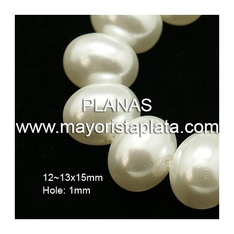 Perla de cristal 15x12mm