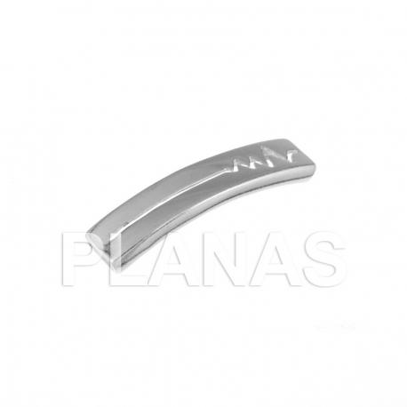 Placa de plata 34x7,4mm.