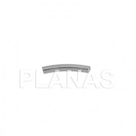 Tubo Curvado de Plata 20x3mm.