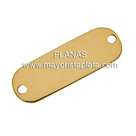 Placa en Plata de Ley con Baño de Oro