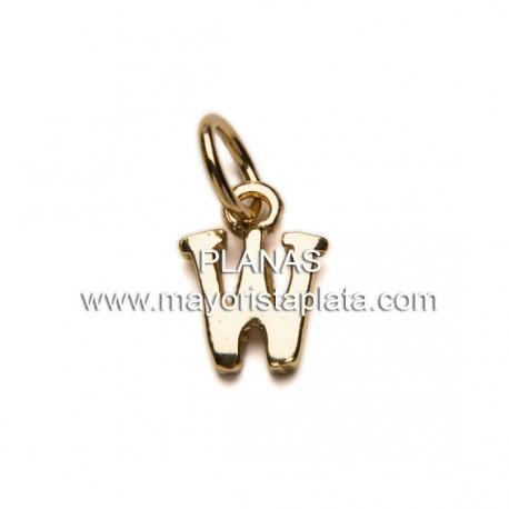 Mini Letras en Plata de Ley y Baño de Oro