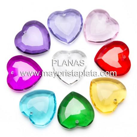 Corazón Cristal Facetado