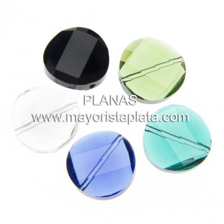 Abalorio de Cristal 18mm.