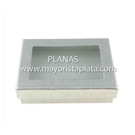 Caja de Cartón con tapa transparente