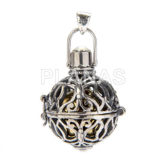 Llamador de Angel en plata de ley.22mm.
