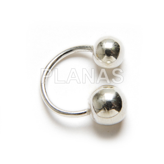 Nose piercing sterling silver.