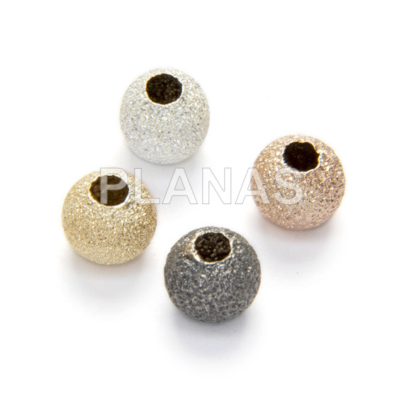 Silver diamond ball 5mm